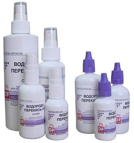 Перекись водорода в домашней аптечке
